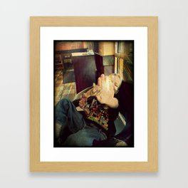 G Man and Ice Cream Framed Art Print
