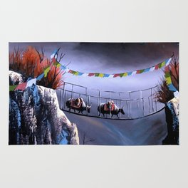 Panoramic View Of Everest Mountain Rug