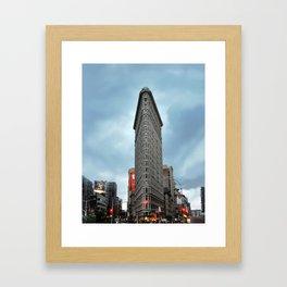 Flat Iron Building New York Manhattan Framed Art Print