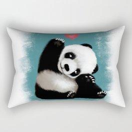 Panda Love (Color) Rectangular Pillow