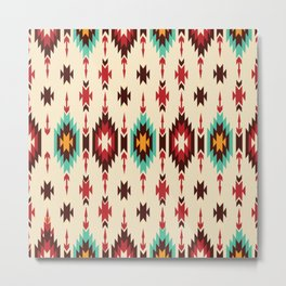 American Native Pattern No. 103 Metal Print