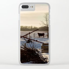 Outstanding in my Field Clear iPhone Case