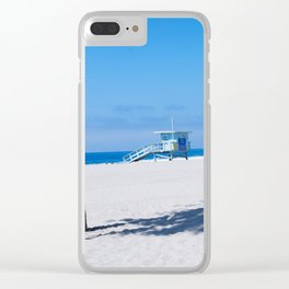 Lifeguard Tower I Clear iPhone Case