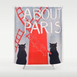 About Paris by Richard Harding Davis (c. 1895) Shower Curtain