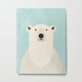 FAUNA / Polar Bear Metal Print