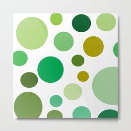 green polka dot Metal Print