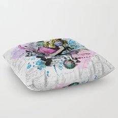Alice in Wonderland collage Floor Pillow