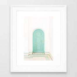 Marrakech Riad Door Framed Art Print