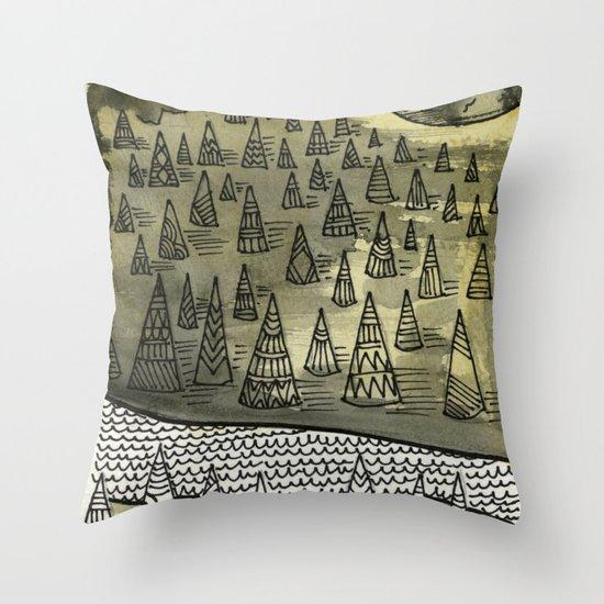 River Runnin Throw Pillow