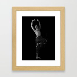 Male Bharatanatyam Dance pose - 151 Framed Art Print