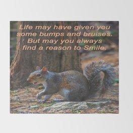 Reason to Smile Throw Blanket