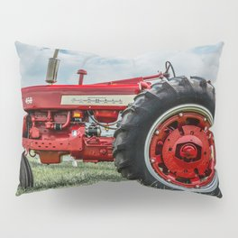 Vintage IH Farmall 450 Side View Red Tractor Pillow Sham