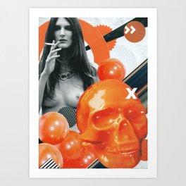 Consumable Goods (Orange) Art Print