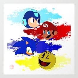 Smash Brothers: The Legends Art Print