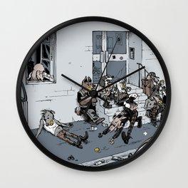 Ball-addicted dogs Wall Clock