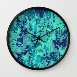 Navy and Seafoam Wall Clock