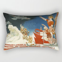 Vintage poster - Soviet Art Poster Rectangular Pillow