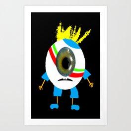I Phone Mister Monokel. Art Print