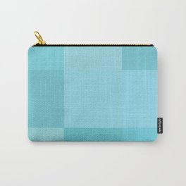 Turquoise grid Carry-All Pouch