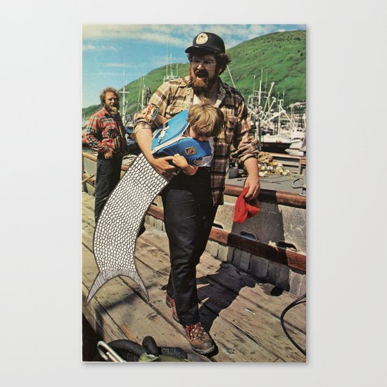 The Life and Death of the Fisherman's son. Canvas Print
