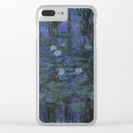 Blue Water Lilies - Claude Monet Clear iPhone Case