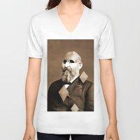 weird V-neck T-shirts featuring Weird by Bakus