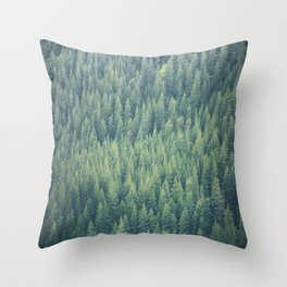 Forest Immersion Throw Pillow