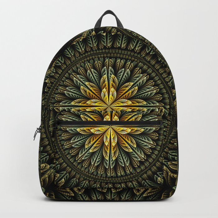 Autumn fantasy flower and petals Backpack