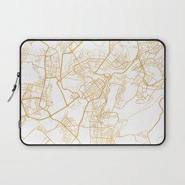 YEREVAN ARMENIA CITY STREET MAP ART Laptop Sleeve