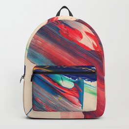 Fast abstract paint Backpack