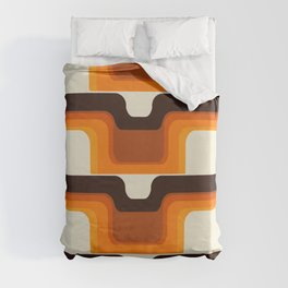 Mid-Century Modern Meets 1970s Orange Duvet Cover