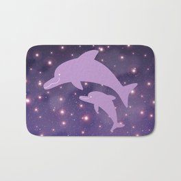 Parent-child of dolphin in Universe _03 Bath Mat