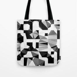 8bit B&W Abstract Tote Bag