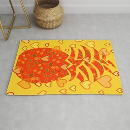 I Love Pineapple Rug