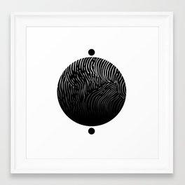 Lined World Framed Art Print