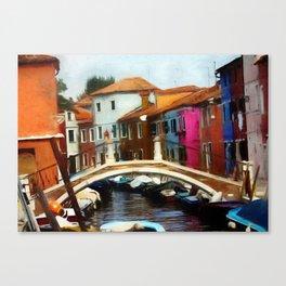 Burano Bridge - Revised 2020 Canvas Print