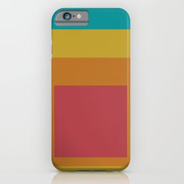Block Colors - Teal Yellow Red iPhone Case