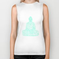 hologram Biker Tanks featuring Triangular Traced Buddha by Makar Deku