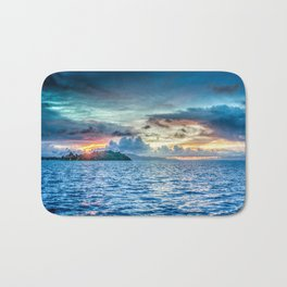 Bora Bora Polynesia sunset Bath Mat