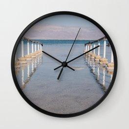 dead sea beach Wall Clock