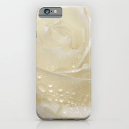 Rose white 01 iPhone Case