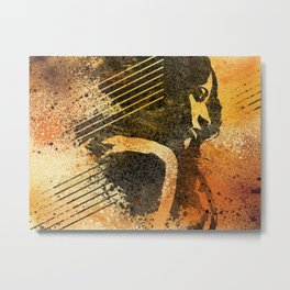 End Of Something | Woman shadow graffiti painting Metal Print