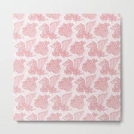 Pegasus Pattern Dusty Rose Metal Print