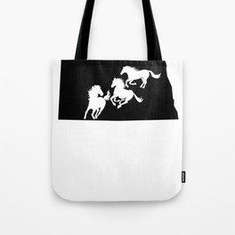 North Dakota Nokota Horse Lover Black Tote Bag