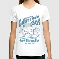 lotr T-shirts featuring LOTR - Greedy Gollums Sushi Bar  by Immortalized