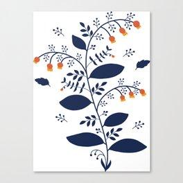 Folk Art Nr.1 - Wildflowers Canvas Print