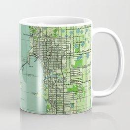Vintage map of Sarasota Florida (1944) Coffee Mug