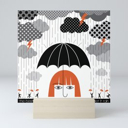 LET IT RAIN Mini Art Print