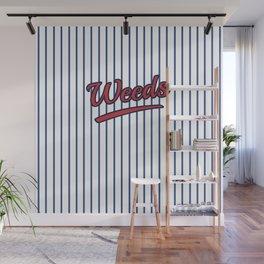 Weeds Typographic Design Wall Mural