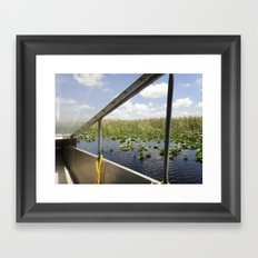 Keep your hands in the boat, ladies and gentlemen. Framed Art Print